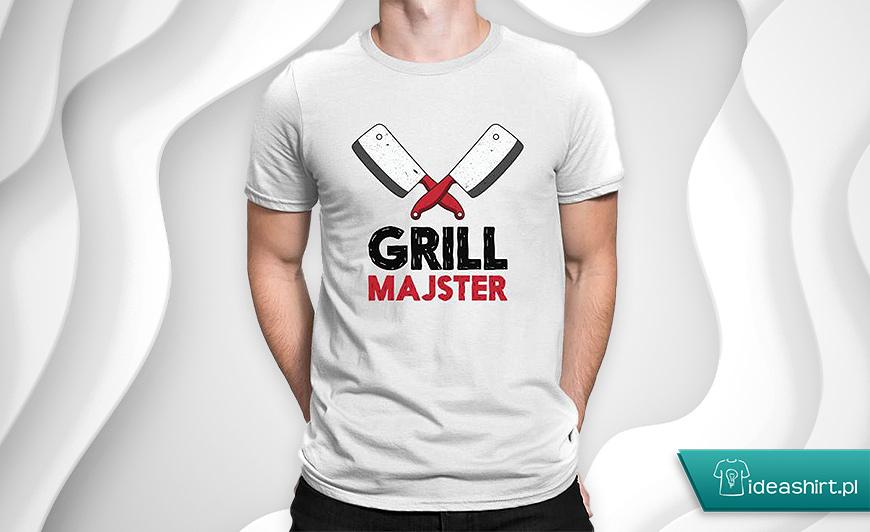 grill majster - zabawna koszulka na grilla