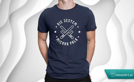 Koszulka nie jestem miękką pałą dla policjanta