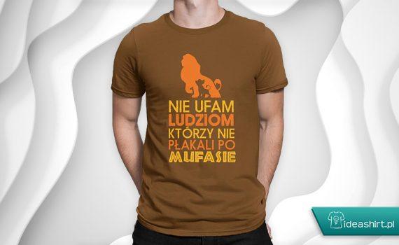 Koszulka z nadrukiem król lew - nie ufam ludziom, którzy nie płakali po Mufasie
