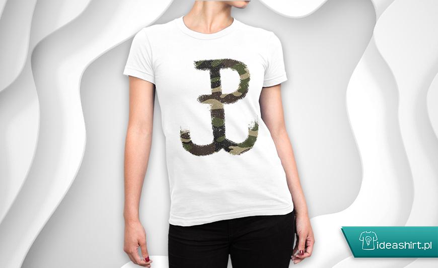 Koszulki Powstanie Warszawskie - damska koszulka z Polską Walczącą