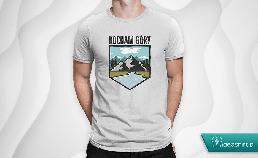 Koszulki turystyczne - koszulka kocham góry