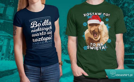 Śmieszne koszulki świąteczne