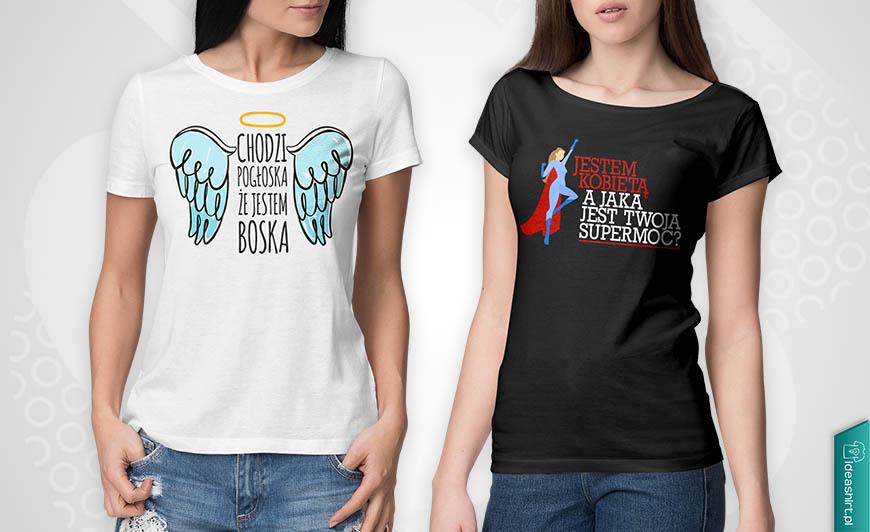 Śmieszne koszulki z nadrukiem na Dzień Kobiet