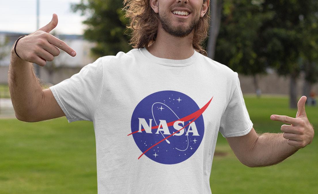 T shirt dla prawdziwego fana kosmosu i NASA
