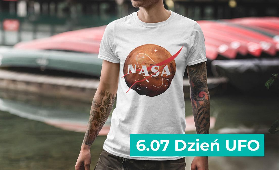 Koszulka dla fanów kosmosu i planet NASA MARS