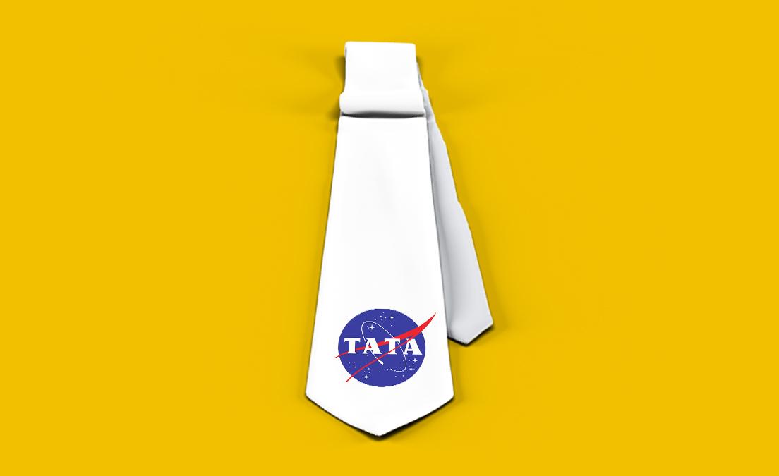 Krawat z nadrukiem w prezencie na Dzień Ojca NASA