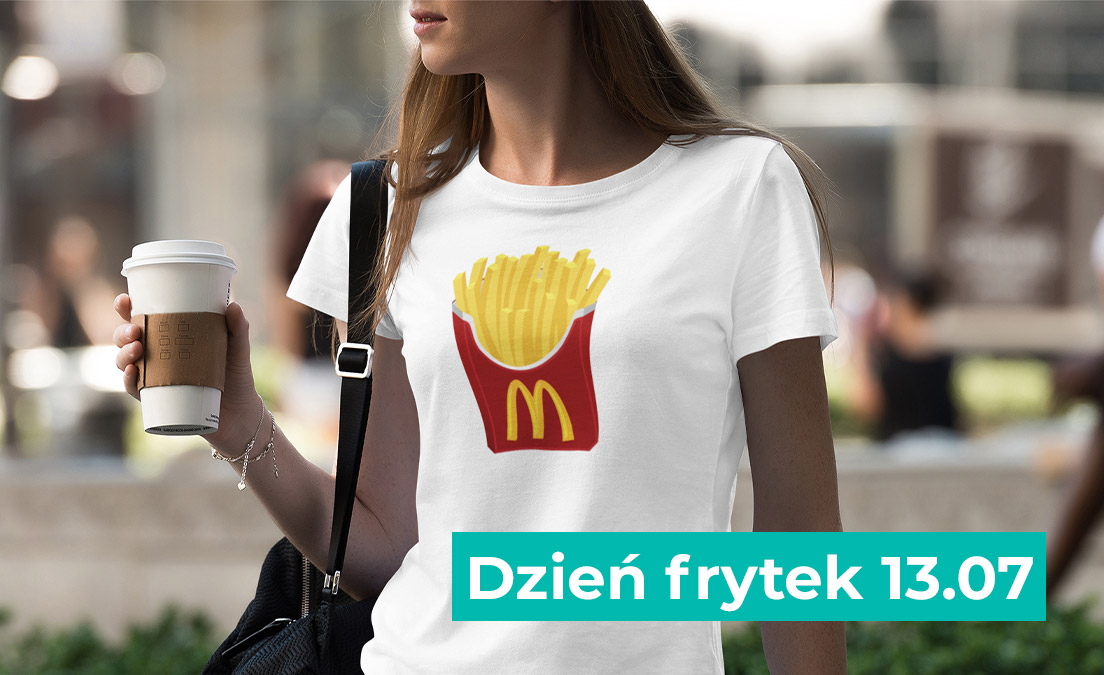 Koszulka z nadrukiem z okazji dnia frytek
