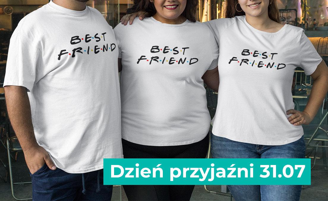 Dla przyjaciół koszulki ze wzorem BEST FRIEND