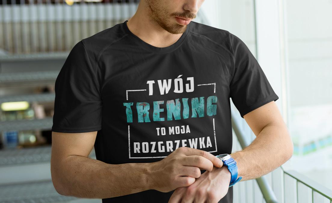 Męska koszulka na Dzień Kultu Masy Mięśniowej ze wzorem