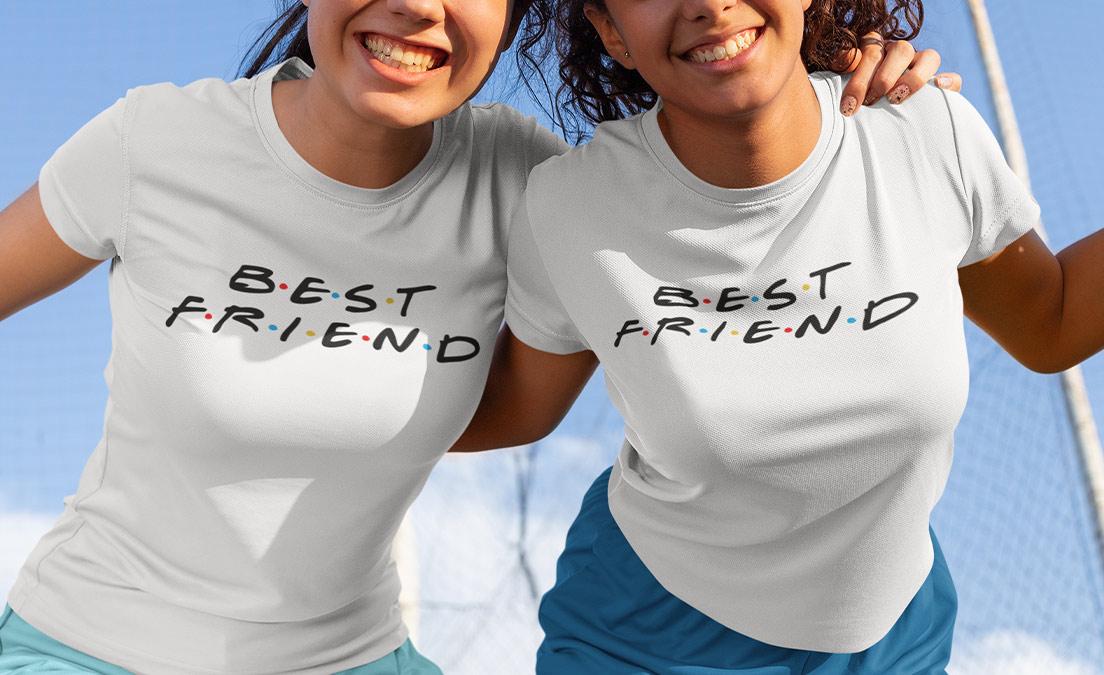 T-shirty dla przyjaciółek ze wzorem z serialu