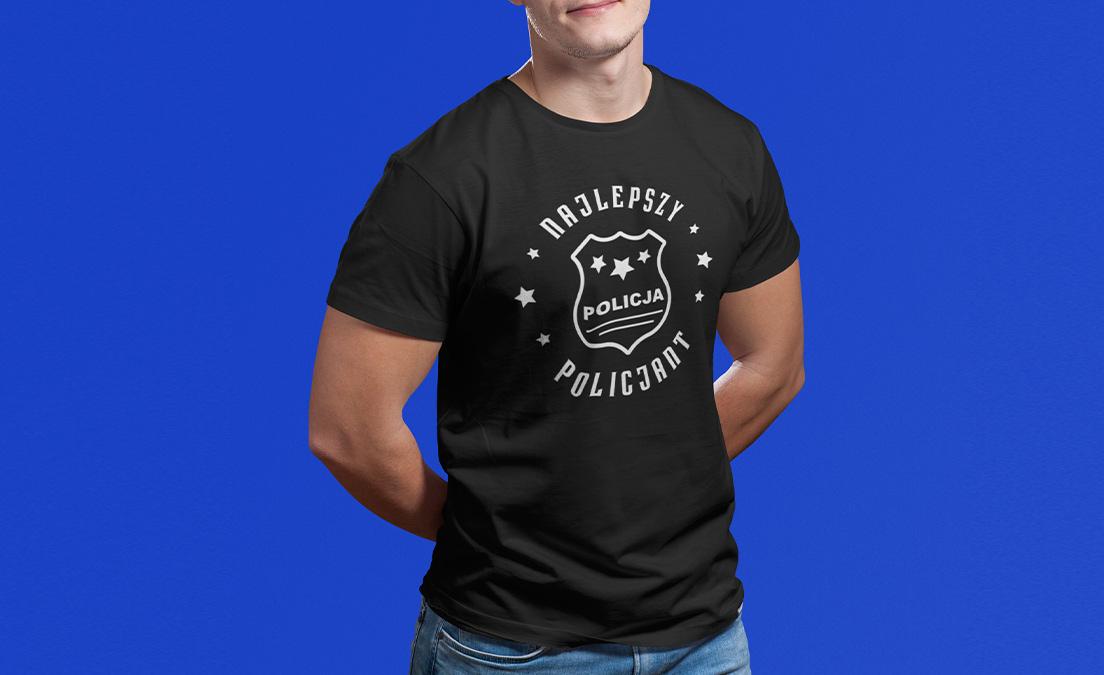 Męska koszulka z policyjnym wzorem na Obchody Święta Policjanta