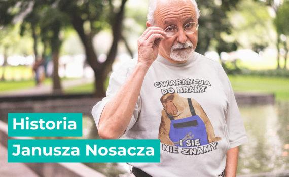 Janusz Nosacz na koszulce