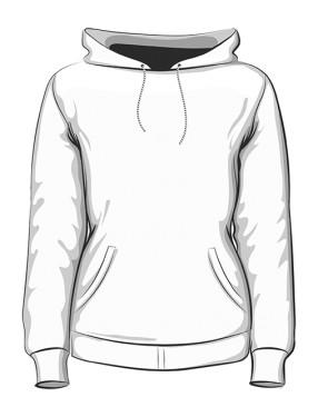 Bluza z kapturem damska premium HAFT