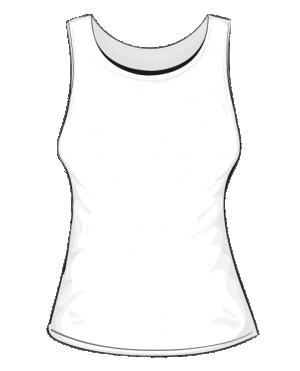 Koszulka damska bez rękawków fullprint