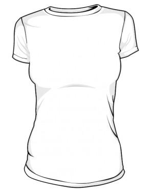 Koszulka economy damska biała