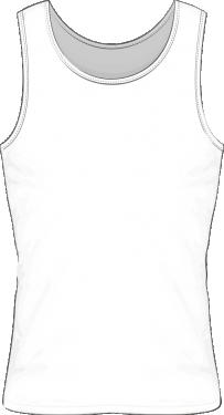 Koszulka męska bez rękawków sitodruk