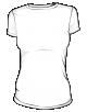 Koszulka  t-shirt economy damska biała sitodruk