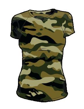 Koszulka t-shirt moro damska fullprint