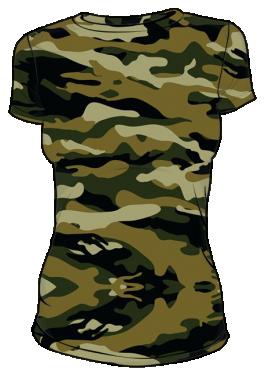 Koszulka t-shirt moro damska sitodruk