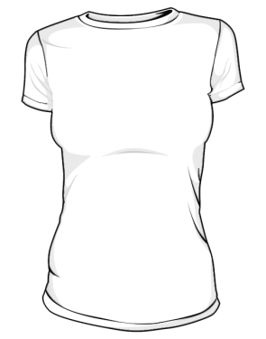 Koszulka t-shirt slim damska sitodruk