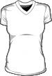 Koszulka t-shirt v-neck damska sitodruk