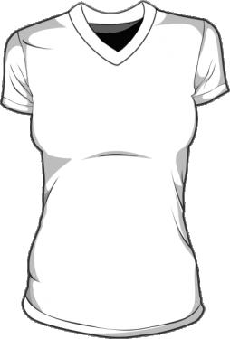 Koszulka t-shirt v-neck damska
