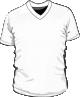 Koszulka t-shirt v-neck męska sitodruk