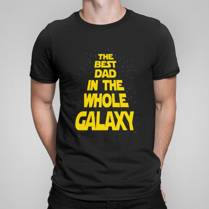Best dad in the galaxy koszulka męska