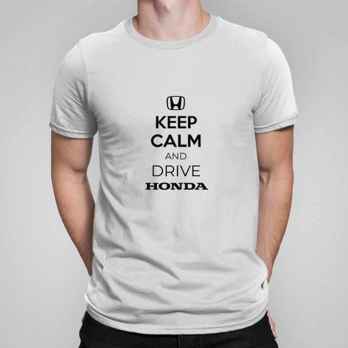 Keep calm and drive Honda koszulka męska